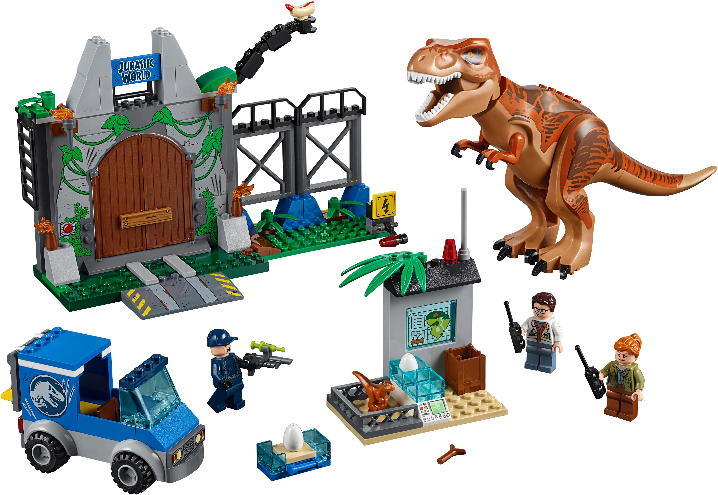 10758 LEGO Juniors Jurassic World T Rex Breakout Set Photo 1